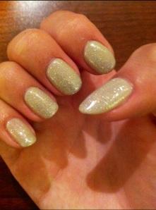 champagne sparkle nails