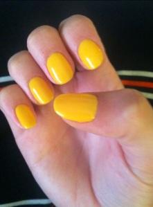 mustard nails