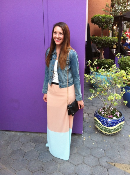 maxi skirt with jacket