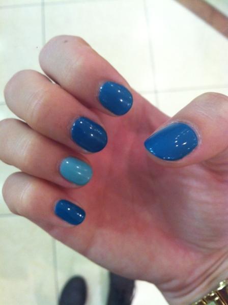 shades of teal nails
